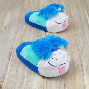 NWOT, Stompeez Blue Puppy Slippers  Sz. 11-1 Youth